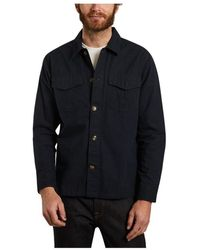 Knowledge Cotton Apparel Pine Shirt Jacket - Blau