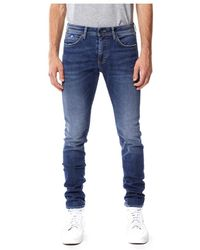 Gas Sax Zip Jeans - Blauw