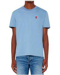 AMI Fergus - Cotton Blend Shorts Azul