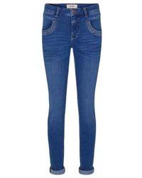 Mos Mosh Naomi Core Luxe Jeans - Blauw