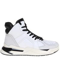Balmain B-ball Leather Sneakers - Wit