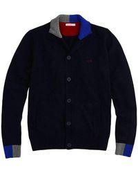 Sun 68 Cardigan Sweater With Contrasts - K40131-07 - Blauw