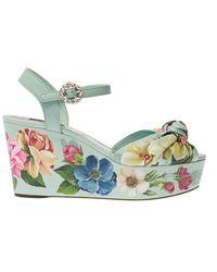 Dolce & Gabbana Wedge Sandals - Naturel