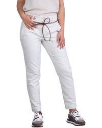 Brunello Cucinelli - Pantaloni Slim Fit Con Cinturino - Lyst