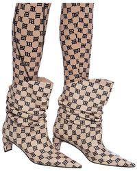MISBHV Ankle boots with monogram Beige - Neutro