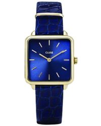 Cluse La Tetragone Snake Horloge - Blauw