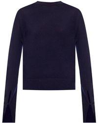 Chloé Sweater with logo - Blu