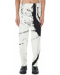 Issey Miyake Plissé Pleated Trousers - Wit