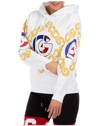 Gcds Women's Sweatshirt Hood Hoodie College - Wit