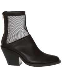 Ann Demeulemeester Leather Ankle Boots - Zwart
