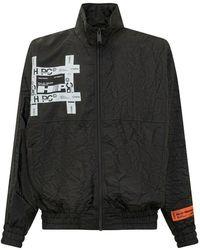 Heron Preston Windproof Crinkled Jacket Tyvek - Zwart