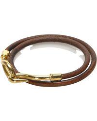 Hermès Bracciale Hook pelle Jumbo - Marrone