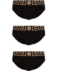Versace Briefs Three-pack With Medusa - Zwart