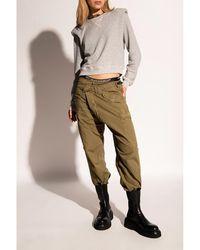 R13 Sweatshirt with padded shoulders - Gris