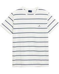 GANT T-shirt Streep 2023001 113 - Naturel