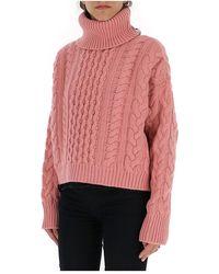 Alanui Roll-neck fitted sweater Naranja