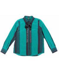 Marc Jacobs Striped Silk Shirt - Groen