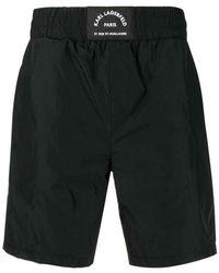 Karl Lagerfeld Address Boxing Shorts - Zwart