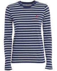 Ralph Lauren Striped T Shirt - Blauw