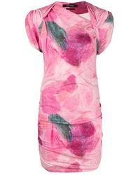Isabel Marant Dress With Gathers - Roze
