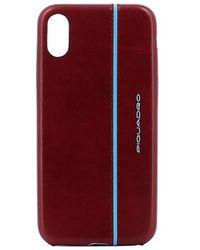 Piquadro Custodia In Pelle Per Iphone®x - Rood