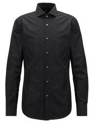 BOSS Overhemd Jason - Zwart
