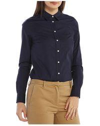 GANT - Solid Stretch Broadcloth Shirt - Lyst