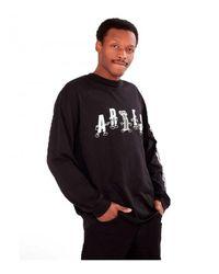 Aries Camiseta Cartoon Columns LS Negro