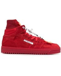 Off-White c/o Virgil Abloh High Top Trainers Sneakers 3.0 Off Court - Rood