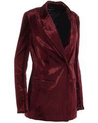Ann Demeulemeester Coat Rojo