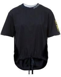 Sportmax Piroga Navy T-shirt - Blauw