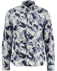 Denham Standard Camogami Shirt - Bleu