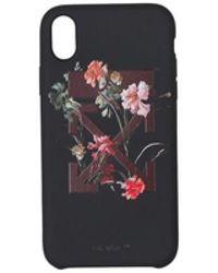 Off-White c/o Virgil Abloh Iphone X Flowers Case - Zwart