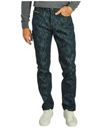 """Naked & Famous Weird Guy Jeans Pickle Rick """"solenya"""" - Blauw"""