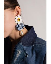 Dolce & Gabbana Pendientes de clip Amarillo
