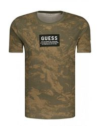 Guess - Tee Shirt En Coton Bio Printé - Lyst