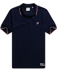 Superdry Sportstyle Twin Tipped Polo - Blau