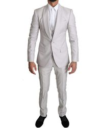 Dolce & Gabbana Breasted 3 Piece Wol Suit - Grijs