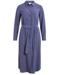 Vila Viglatanis Midi Shirt Dress - Blauw