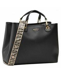 Emporio Armani Shopper Bag Stampa Cervo - Zwart