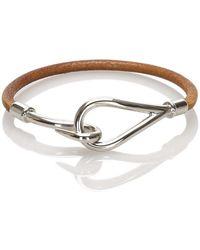 Hermès Jumbo Hook Bracelet - Marrone