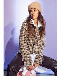 co'couture Iris Boucle Jacket Marrón