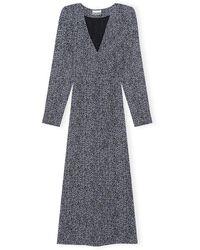 Ganni - Dress Printed Georgette - Lyst
