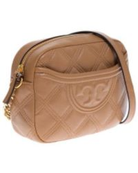 Tory Burch Fleming Camera Tas - Bruin