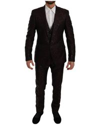 Dolce & Gabbana 3 Stuk Formele Martini Suit - Bruin