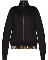 Versace Zip-up Sweatshirt - Zwart