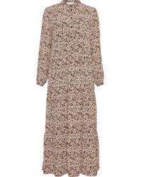 Moss Copenhagen Merila Rikkelie Maxi Dress - Roze