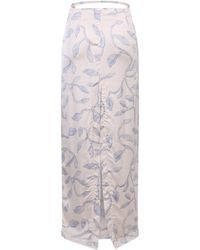 Jacquemus Printed skirt Blanco