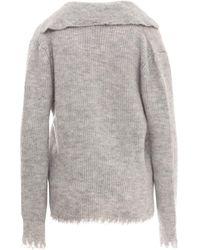Erika Cavallini Semi Couture Knitwear P1Wc22 Gris