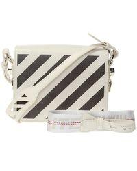 Off-White c/o Virgil Abloh 'diag Flap' Shoulder Bag - Wit